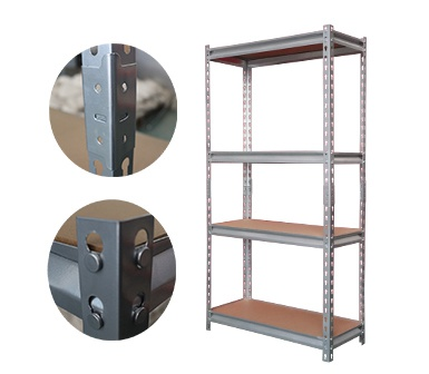 Mdium Duty Storage Shelving ,Hardy Hole,Z-beams,4 Adjustable Shelves,28*12*60 Inch,Zinc coated steel-RZ-2812-4ZH