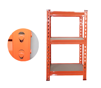 Rivet Shelving RZ-1612-3ZH Orange Steel Storage Rack,3 Adjustable Shelves,Z-beams, Cold rolled steel strip,16*12*28 Inch-RZ-1612-3ZH