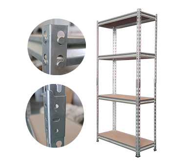 Mdium Duty Storage Shelving ,Hardy Hole,Z-beams,4 Adjustable Shelves,32*16*60 Inch,Cold rolled sheet-RZ-3216-4ZH