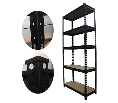 Hardy Hole RZ-3216-5LH Black Steel Storage Rack,5 Adjustable Shelves,L-beams,Supermarket Display Rack, Free Combination Multi-functional Household Multi-layer shelves,32*16*72 Inch-RZ-3216-5LH
