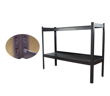 Hidden-Style RZ-3516-2HS Black Steel Storage Rack,Multi-functional Household Shelves,35*16*24 Inch-RZ-3516-2HS