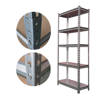 Rivet Shelving RZ-4718-5ZH Silver Vein Steel Storage Rack,5 Adjustable Shelves,325 kgs each shelves,z-beams,Anti-rust power coated,47*18*72 Inch-RZ-4718-5ZH
