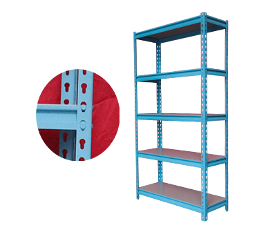 Rivet Shelving RZ-4718-5ZH Sky Blue Steel Storage Rack,5 Adjustable Shelves,Z-beams,Supermarket Display Rack, Free Combination Multi-functional Household Multi-layer shelves,47*19*71 Inch-RZ-4719-5ZH