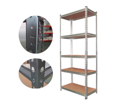 Rivet Shelving RZ-4724-5ZH Silver Vein Steel Storage Rack,5 Adjustable Shelves,325 kgs each shelves,z-beams,Anti-rust power coated,47*24*72 Inch-RZ-4724-5ZH