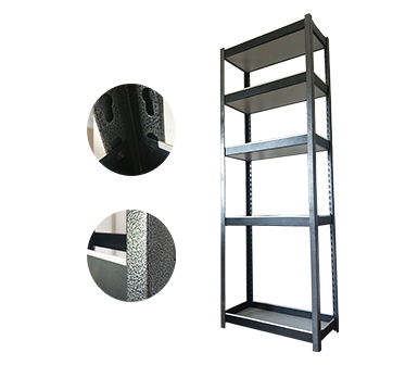 Hidden-style RZ-2812-5HS Black Steel Storage Rack,Multi-functional Household Shelves,5 Adjustable Shelves,Zinc coated steel,White Protection Strip,28*12*78 Inch-RZ-2812-5HS