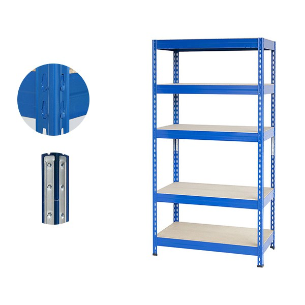 Blue Metal Boltless Industrial Shelves